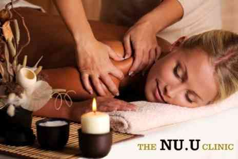 NU:U Clinic - Full Body Massage or Choice of Two Beauty Treatments - Save 75%