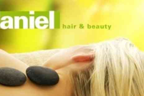 Daniel Hair & Beauty - Hot Stone or Aromatherapy Massage With Mini Facial - Save 60%