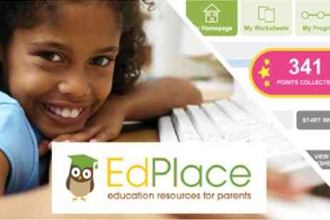 EdPlace - Online Annual Educational Subscription with Choice of Maths, English and Science - Save 65%