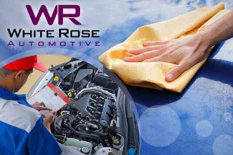 White Rose Automotive - MOT With Valet and Fuel System Clean - Save 74%