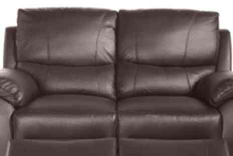 Cool Furniture - 2 Seat Reclining Leather Sofa - Save 62%