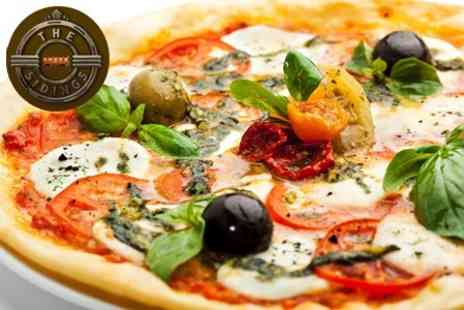The Sidings - Pizza or Pasta Meal With Garlic Bread To Share For Two - Save 58%