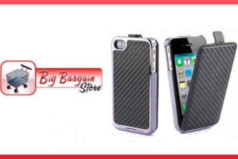 Big Bargain Store - Leather and Chrome Hard iPhone Cover - Save 50%