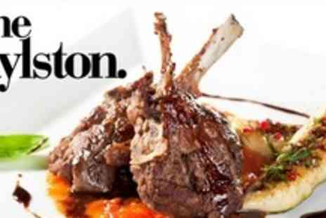 The Rylston - Main Course and Dessert For Two With Wine - Save 55%