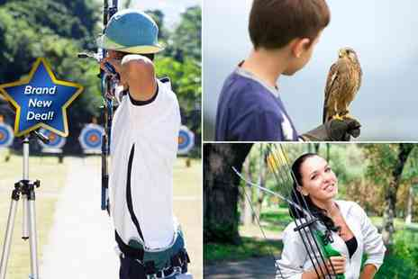 Perriswood Archery and Falconry Centre - One hour archery and one and a half hour falconry experience for two - Save 50%