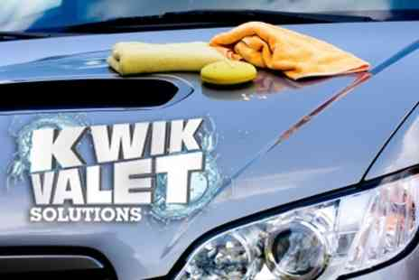 Kwik Valet Solutions - Deluxe Car Valet With Wax and Polish - Save 33%