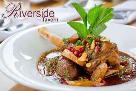 The Riverside Tavern - Two Course Meal With Hot Drink For Two - Save 50%