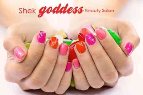 Shek Goddess Beauty Salon - OPI Spa Manicure or Pedicureor Acrylic Extensions - Save 56%