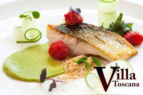 Villa Toscana - Three Course Italian Meal For Two With Prosecco - Save 50%