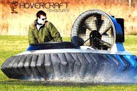 Hovercraft Adventures - Hovercraft Session With Training and Five - Save 63%