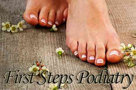First Steps Podiatry - Podiatry Treatment With Gel Nail Polish - Save 60%