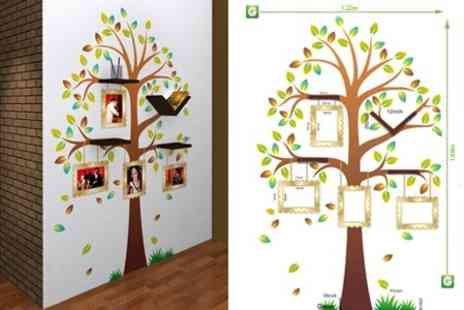 Spicy Decor - Family Tree Decal and Bookshelf - Save 67%