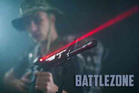 BattleZone Ashford - Laser Tag Three Games For Two - Save 73%