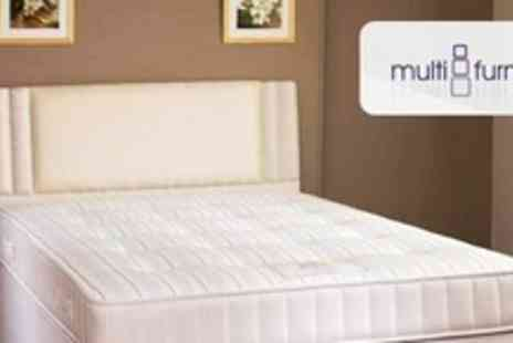 Multifurnish - 1000 Pocket Sprung Mattress and Divan Set in Choice of Four Sizes - Save 55%