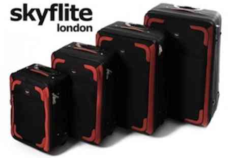 EIC Direct - Skyflite Transit 4 Piece Expandable Luggage Set  All The Holiday Luggage You Need - Save 59%