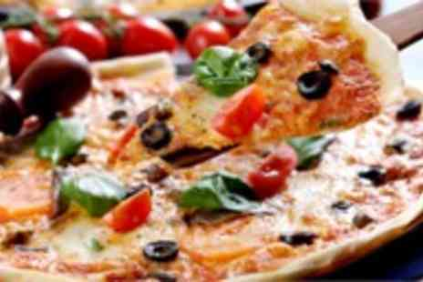 Atlas Cafe Bar - Family or Group deal 2 large organic pizzas, 4 sides & any 4 drinks - Save 54%