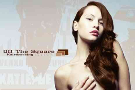 Off The Square Hairdressing - Cut and Blow Dry With Hot Oil Treatment Plus Head Massage - Save 50%