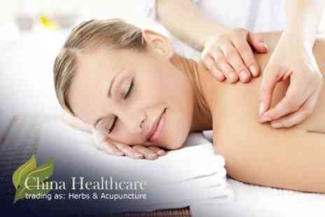 China Healthcare - Acupuncture Session With Acupressure Massage and Cupping - Save 75%