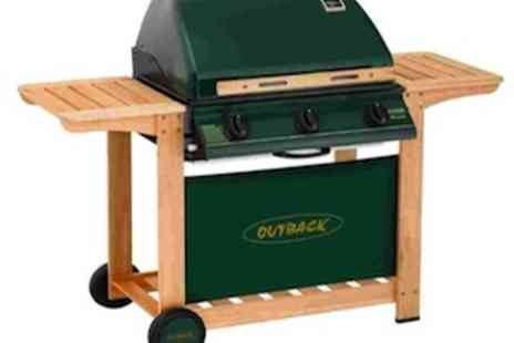 EIC Direct - Outback Hunter 3 Burner Hooded Gas Barbecue including Cover and Propane Regulator - Save 43%