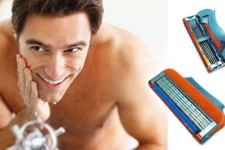 Roolyn - Razor blade refills compatible with Gillette Mach 3 - Save 80%
