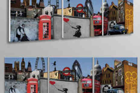 Canvas Town - Banksy London Themed Canvas Print - Save 65%