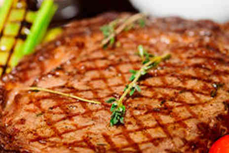 The Green Tree - 10oz Ribeye Steak Meal and Wine for Two People - Save 54%