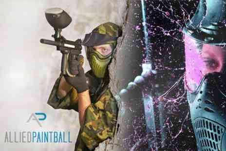 Allied Paintball - Paintballing For One With Light Lunch and 50 Paintballs Each - Save 71%