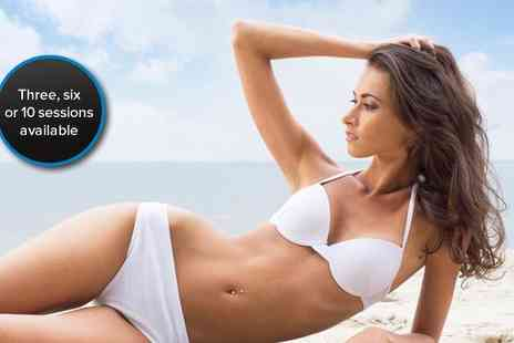 Allure Aesthetics - Three half hour laser lipo sessions with vibration plate - Save 85%