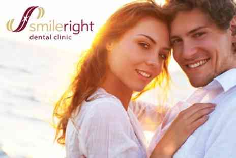 Smileright Dental Clinic - Laser Teeth Whitening With Check Up - Save 27%