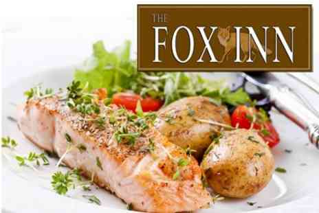 The Fox Inn - British Fare Two Course Meal For Two - Save 52%