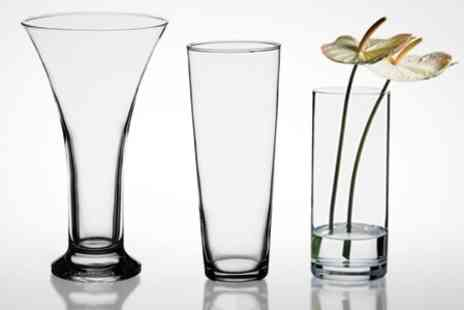 Mahahome.com - Pasabahce Glass Vases in Choice of Styles - Save 52%
