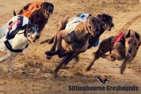 Sittingbourne Greyhounds - Entry For Two With Pizza To Share Plus Race Card and Tote Bet Each - Save 26%