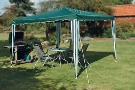 The Kript - Green pop up gazebo including guide ropes, stakes and storage bag - Save 50%
