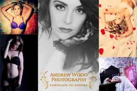 Andrew Wood Photography - Boudoir Makeover Photoshoot With Framed Portrait - Save 83%