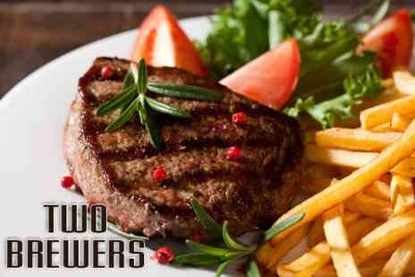 The Two Brewers - Two Course Meal For Two - Save 57%