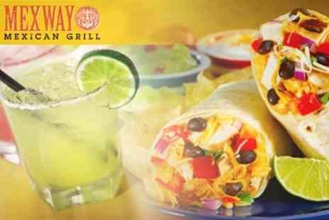 Mexway - Burrito Plus Beer or Margarita For One - Save 56%