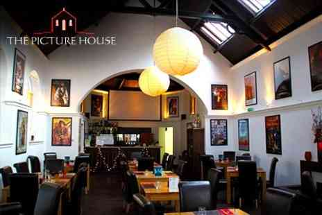 The Picture House - Two Course Meal For Two  With Movie Screening and Popcorn  -Save55%