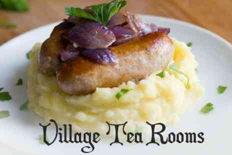 Village Tea Rooms - Two Course Lunch With Drink For Two - Save 53%