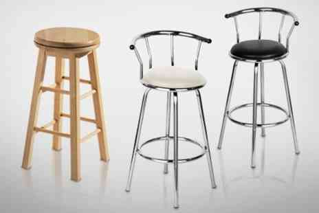 Mahahome.com - Revolving Bar Stools in Choice of Styles - Save 58%