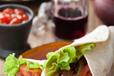 Mexway - Two Burritos, Two Sides, and Two Drinks - Save 58%