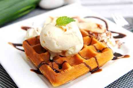 The Stuart Hotel - Hot Waffles With Choice of Toppings Plus Hot Drink - Save 50%