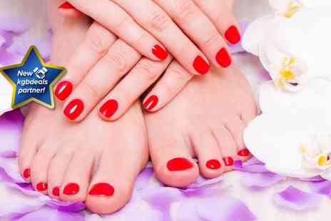 Nails by Zara - Deluxe manicure and pedicure - Save 62%