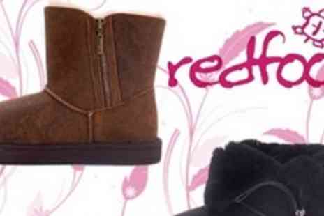 Redfoot Shoes - Aviator Australian Sheepskin Boots in Black - Save 54%