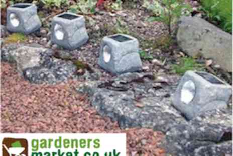 Gardeners Market - Pack Of 4 Solar Powered Garden Lights - Save 50%