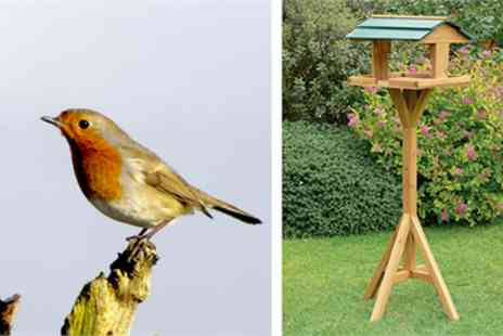 Gardeners Market - Wooden garden bird table - Save 50%