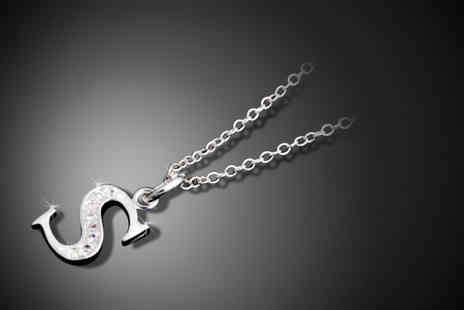 Trinkets. - Silver-plated initial necklace - Save 77%