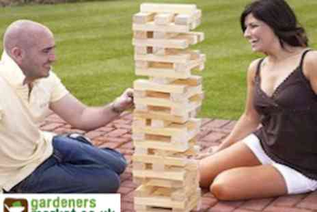 Gardeners Market - Garden Games Including Giant Jenga - Save 50%