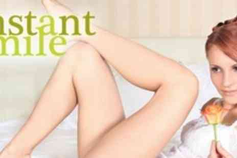 Instant Smile Studio - Six IPL Hair Removal Treatments on Two Small Areas and One Medium Area - Save 87%