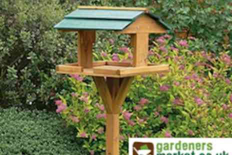 Gardeners Market - Standing Wooden Bird Table - Save 50%
