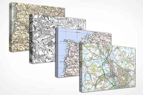 Cassini Maps - Personalised Canvas Map - Save 50%